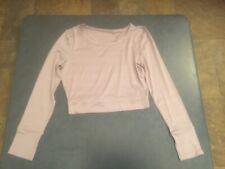 Danskin Women's M Light Purple Long Sleeve Keyhole Top NWT