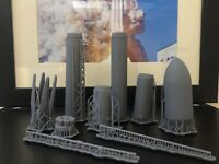 SpaceX Falcon 9 Block 5 With Fairing 1/144 3D Printed Model NASA