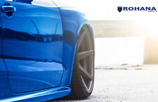 20x11 +28 Deep Concave Rohana RC7 5x112 Graphite Wheels Fit Audi Rs5 Rs-5 2014