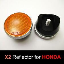 Honda CB350 CL350 CB450 CL450 CB500 CB750 Amber Front Fork Reflector Pair Japan