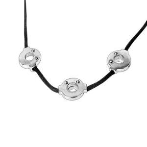 Anime Naruto Akatsuki Itachi Uchiha Necklace Cosplay 3 Loops  Rings Pendant