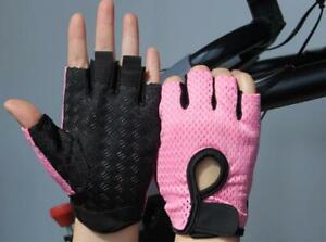 Half Finger Gloves Fitness Gym Men & Women Weight Lifting Slip-Resistant Thin