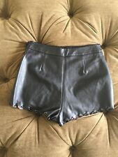 Top Shop High Waisted Faux Leather Shorts Size 4