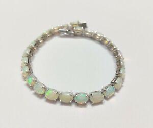 Silver Opal Bracelet High Quality Ethiopian Opal Bracelet 15 Ct Opal Bracelet