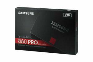 Samsung MZ-76P2T0BW 860 Pro 2.5in 2TB SATA III SSD - Black