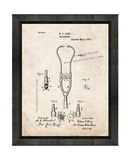 Doctor's Stethoscope Patent Print Old Look in a Beveled Black Wood Frame