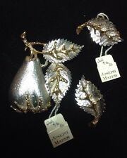 JOSEPH MAZER VINTAGE & NEW WITH TAGS BROACH & MATCHING EARRINGS COLLECTIBLE