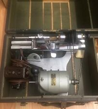Vintage Watchmakers Lathe Dayton Type 2M011-REV Volts 115 with Tools and Box