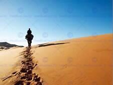 Man on horse Desert Dunes Trail Photo FINE ART PRINT POSTER BMP173B
