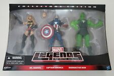 Marvel Legends MS. MARVEL CAPTAIN AMERICA RADIOACTIVE MAN 3-pack NIB