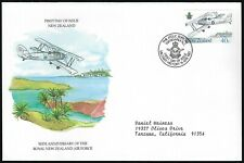 New Zealand Fdc - 50th Anniversary Royal New Zealand Air Force - Cacheted!