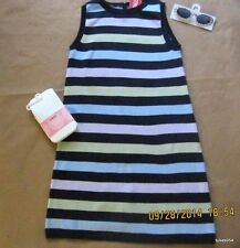 Gymboree Petite Mademoiselle Striped Dress Glasses Pattern Tights 8-9-10 NWT New