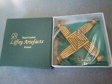New In Box Liffey Artefacts Ireland St Brigid Brass Cross Med Wall Placque