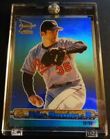 2000 MIKE MUSSINA PACIFIC PRISM HOLOGRAPHIC MIRROR BLUE #18 HOF 18/80 (119)