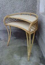 petit bureau style haricot coiffeuse rotin design 50/60 double etage formica