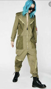NWT XS  K- 2B Small Alpha Industries Inc Full Zip Flight Suit Olive Jacket Tags