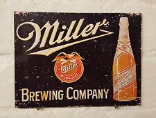 Cerveza de Miller Retro Vintage Signo de Metal de Aluminio Bar Pub Cueva de hombre cerveza signos Cobertizo