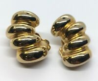 Vintage Earrings Gold Tone Clip On
