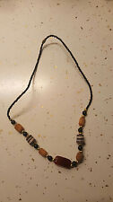Nigerian Clay,Glass, authentic Agate Necklace Jewelry/African 03