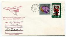 1976 Space Shuttle Simoulation Test Grumman Gulfstream Riverhead USA SIGNED