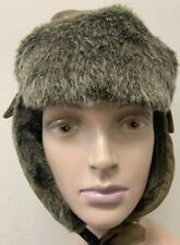Lake Of The Isles Trapper aviator Hat Cap Adult Sz s-xl green Winter Ear Flaps