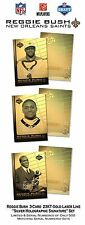 REGGIE BUSH NFL Draft 3-Card 23K GOLD CARDS Holo Signature ROOKIE Set LTD/500