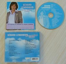 CD ALBUM JE VOUS REPARLERAI D'AMOUR  BEST OF GERARD LENORMAN 21 TITRES