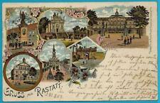 Gruß aus Rastatt! gebrauchte farbige Postkarte mit Stempel vom 21.8.04!