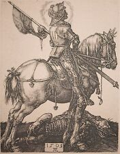 "Albrecht Durer Engraving ""Saint George on Horseback"" Antique & FINE! From Berlin"