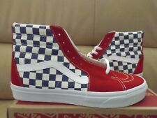 Vans SK8-Hi BMX Checkerboard Men's Size 10.5 Shoes True Blue/Red VN0A38GEU8H