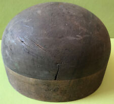 FORME A CHAPEAU DE MODISTE & CHAPELIER PORTE-PERRUQUE BOIS Ø 52 cm, H 12 cm