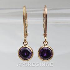 SCHLICHT & BRILLANT ● amethyst - lila Zirkonia Ohrringe ygf 14k Gold 585