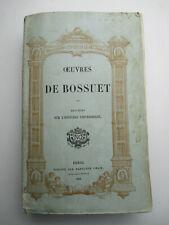 OEUVRES DE BOSSUET Discours sur l'histoire universelle / 1864 Napoléon Chaix