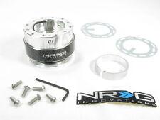NRG Steering Wheel Quick Release Kit Gen 1.0 Silver Body w/ Carbon Fiber Ring