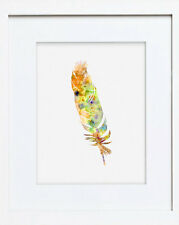 Watercolour Art Print of Original Painting - Yellow Feather - Picture - 53We