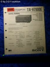Sony Service Manual TA H7900E Amplifier (#2595)