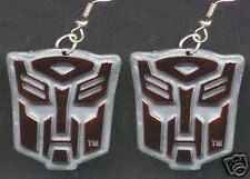 Funky OPTIMUS PRIME TRANSFORMERS EARRINGS Punk Cartoon Character Costume Jewelry