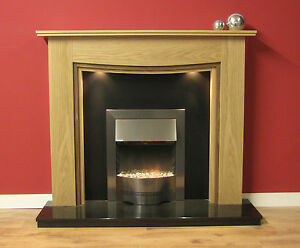 """NEW ENGLISH MADE LEWIS FIRE SURROUND 48"""" FINISHED IN NATURAL OAK"""