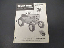 1967 Wheel Horse Lawn And Garden Tractors Commando 6 Owners Manual M009
