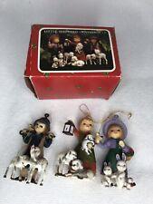 3 Little Shepherds Ornaments Vintage Christmas Ornaments
