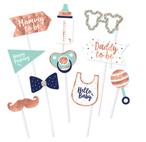 Baby Shower Party Photo Prop 10 pk FAST DELIVERY