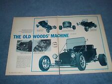 "1915 Ford T-Bucket Roadster Vintage Hot Rod Article ""The Old Woods' Machine"""
