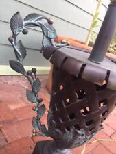 Frederick Cooper Brass Iron Leaf Scroll table LAMP basket weave Urn