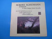 Robert Schumann Duets & 4 Songs from Op 98a Album LP Vinyl Jan DeGaetani H-71364