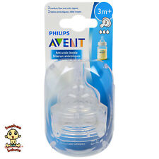Avent Anti-Colic (or Classic Plus) Nipple, Medium Flow #3, 2 Count, BPA Free