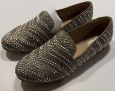 Limelight Women's Shiraz Flat Loafer Shoes Size 6 Slip On Jewel Studded Taupe