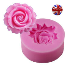 3D Wedding Flower Rose Silicone Mould Fondant Cake Topper Candy icing Tools Mold