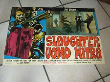 FOTOBUSTA,1973, SLAUGHTER L'UOMO MITRA,J.BROWN,STARRET,STEVENS BLACK,