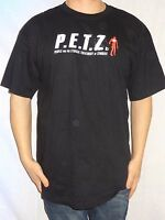 P.E.T.Z. People For The Ethical Treatment of Zombies Black T-shirt Size Large