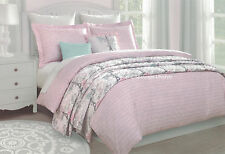 5-pc �� I Love Paris �� Twin Comforter Quilted Coverlet Set Pink French Script